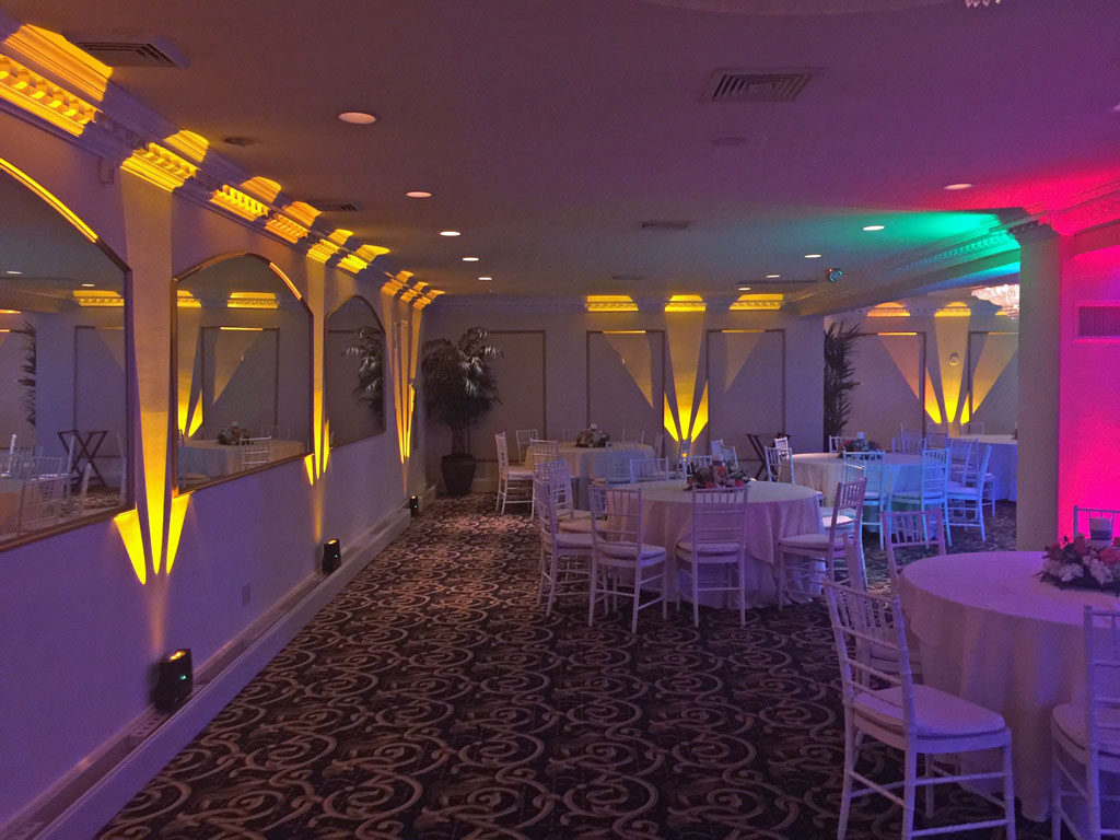 Uplighting at Candlewood Inn, Brookfield, Ct.