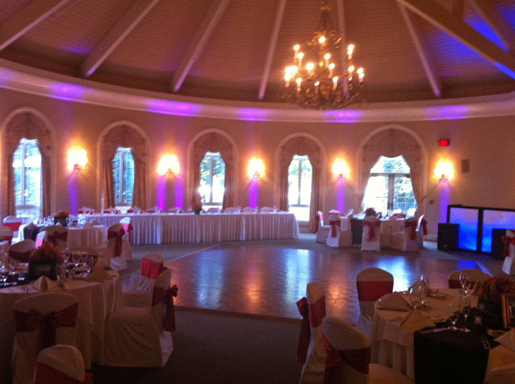 Pink room lighting at Great River Golf Club, Milford, Ct.